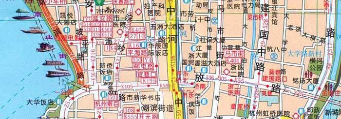杭州市区地图53-杭州热线